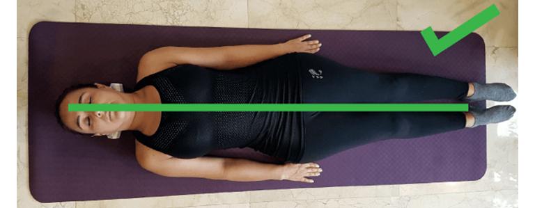 Correcta alineación del cuerpo