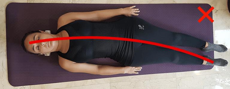 Mala postura del cuerpo