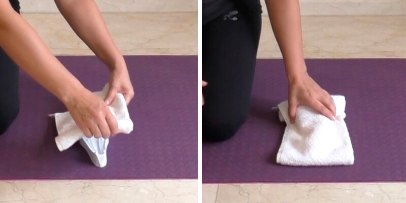 Para suavizar el contacto coloque una toalla doblada sobre SACRUS (si es necesario).