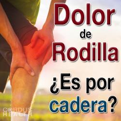 El dolor de rodilla puede estar asociado a una desviación en la cadera