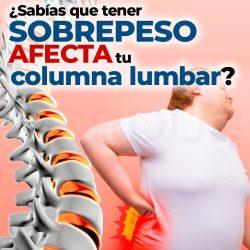 ¿Sabías que tener sobrepeso afecta tu columna lumbar?